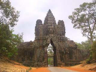 South Gate of Angkor Thom, in Angkor Wat, Cambodia