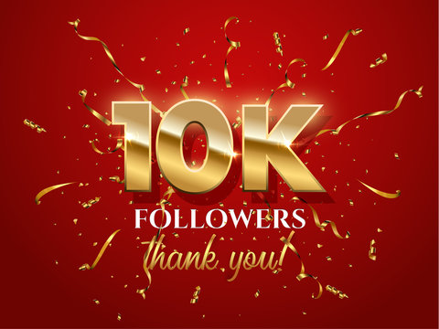 10000 followers celebration vector banner with text