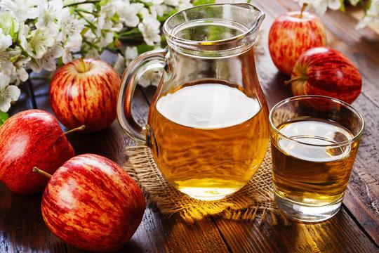 Fresh apple juice