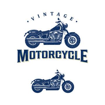 vintage motorcycle logo design