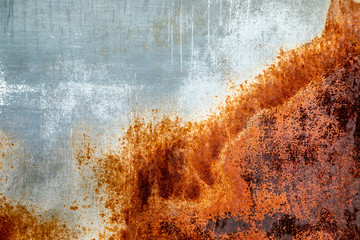 Close up of weathered and rusted metal panel