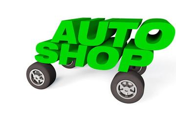 logo for a car shop or company