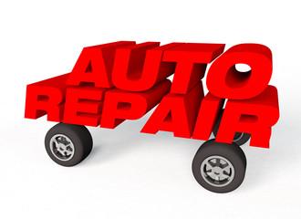 auto repair logo on white background