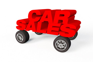 car sales logo or sign on a white background