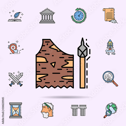costume, stone age, spear, weapon icon  Universal set of