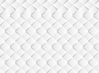 Abstract gradient white vector square paper cut pattern background. illustration vector eps10