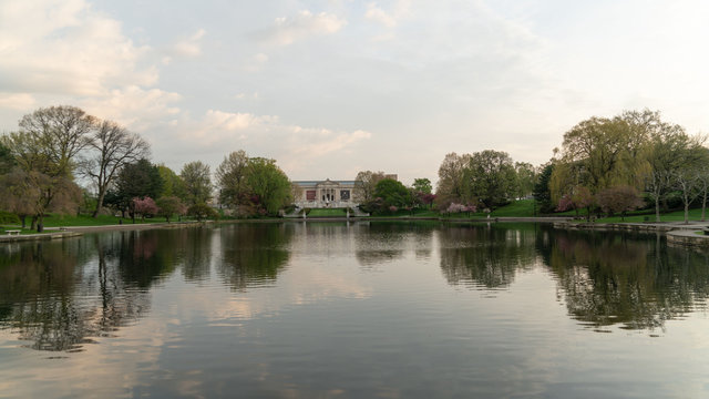 The Wade Park Lagoon with World famous Art Museum
