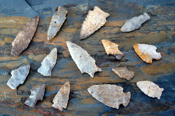 Real American Indian Arrowheads found in East Texas.