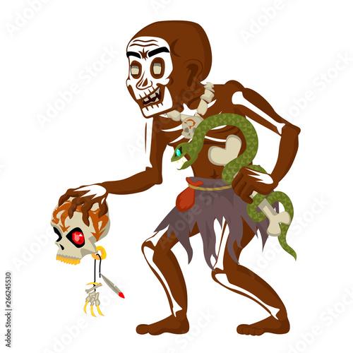 African voodoo witchcraft hoodoo shaman dungeon dark wood