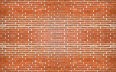 Poster Brick wall Red color brick wall for brickwork background design .