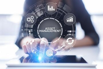Wall Mural - Asset management concept on virtual screen. Business Technology concept.