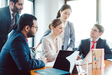 Business advisors structuring a deal