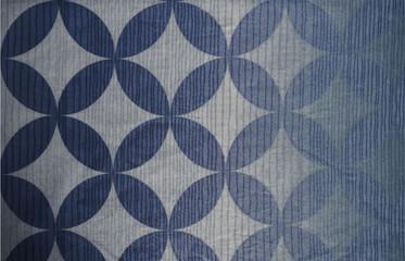Blue patern fabric background grunge