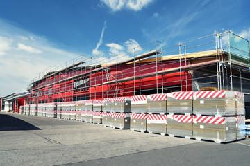 Bau einer Industriehalle - Firmengebäude - Gewerbe // Construction of an industrial hall - company building - trade