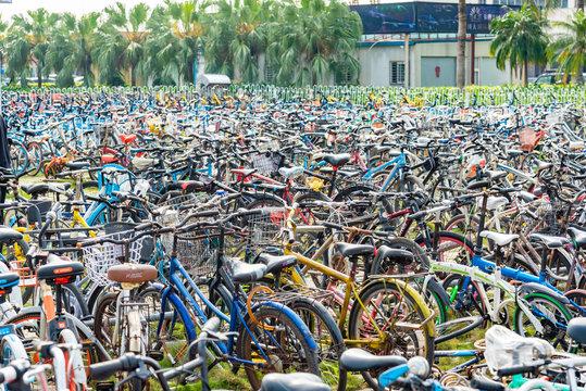 中国のレンタル自転車