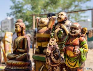 インド、アジア、宗教、笑み、クール、カップル、外国、パンダ、神様、寺、像、religion、神、インディア、文科系、彫刻、彫像