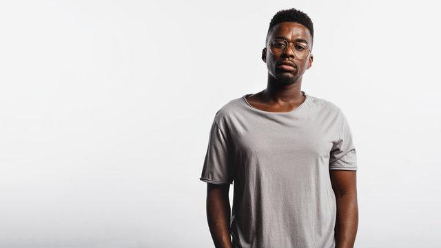 Portrait of an african man in eyeglasses