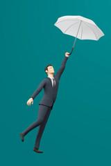 3D Illustration Businessmann abheben