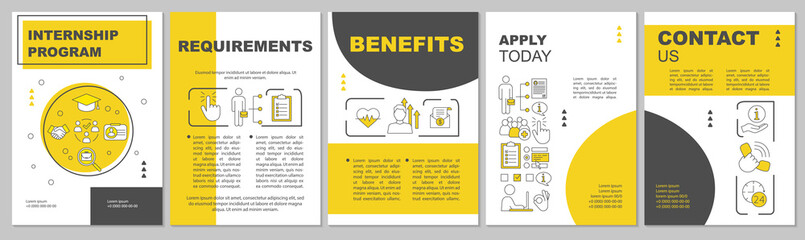 Internship program brochure template layout