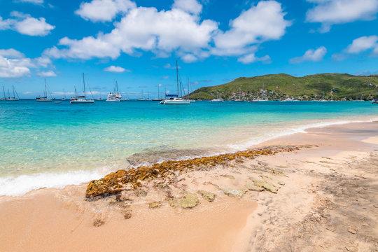 Princess Margaret beach, Bequia Island, Saint Vincent and the Grenadines.