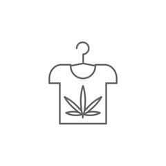 T-shirt, marijuana icon. Element of marijuana icon. Thin line icon for website design and development, app development. Premium icon