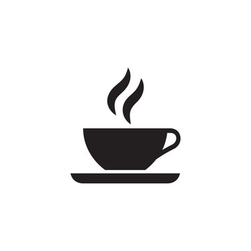 Coffee Cup Icon In Flat Style Vector Icon For Apps, UI, Websites. Black Icon Vector Illustration.