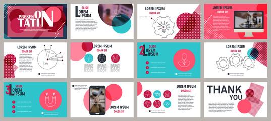 Presentation template. Elements for slide presentations. Flyer, brochure, corporate report, marketing, advertising, annual report, banner