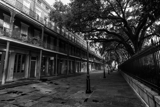 Early morning in the French Quarter, next to Jackson Square