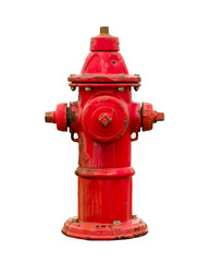 Classic style and weathered  fire hydrant isolated on white