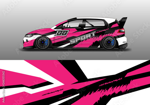 Car wrap design abstract strip and background for Car wrap