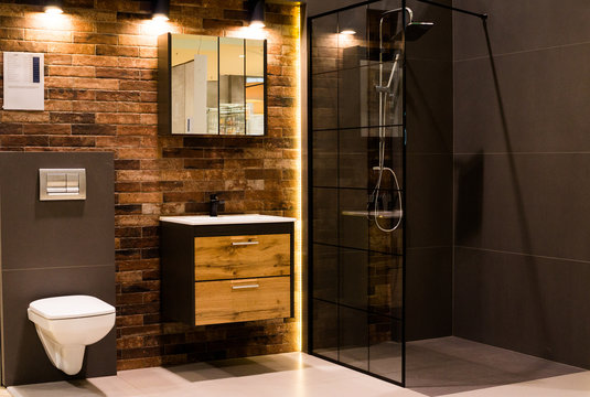 New modern bathroom interior design