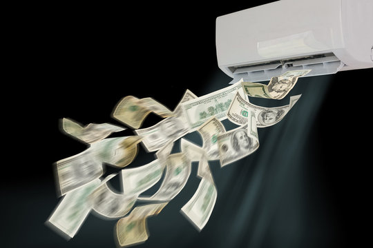 air conditioning dollars banknotes