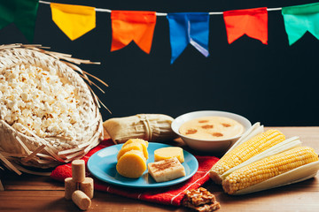 Typical food of Brazilian Festa Junina - June Festival