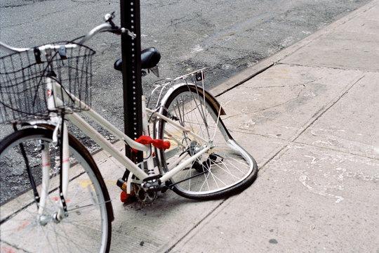 Melting bicycle