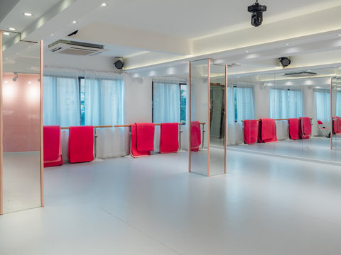 Empty dance practice room