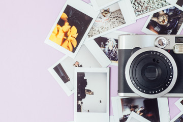 Polaroid camera and photos