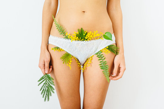 panties with plants