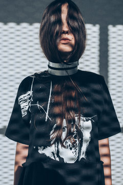 Woman wearing minimalistic design