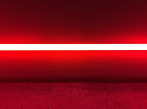 red fluorescent light