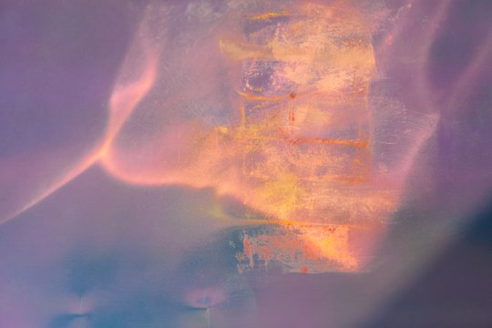 Abstract magic background with pastel traces on holographic background