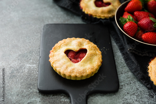 Strawberry tart freshly baked