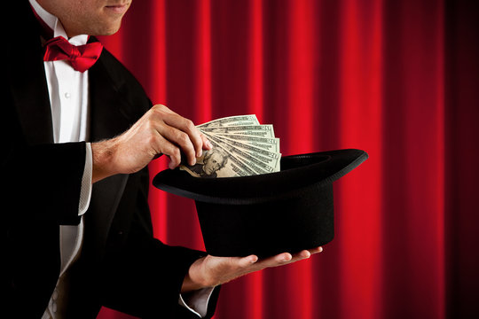 Magician: Anonymous Magician Pulls Cash Out of Hat