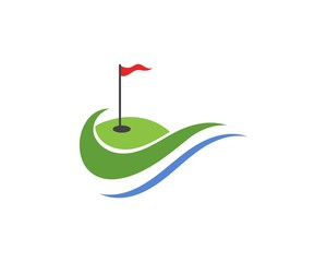 Golf club icons symbols elements and logo vector images