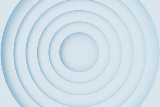 Abstract white paper cut background, circle shape. White circles for your design layout, presentation, flyer, banner, poster, brochure. Typography layered, origami effect, 3D rendering