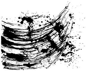 書道 しぶき 毛筆イラスト ブラックフライデー