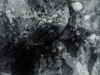 Black Grey Fluid Ink Art