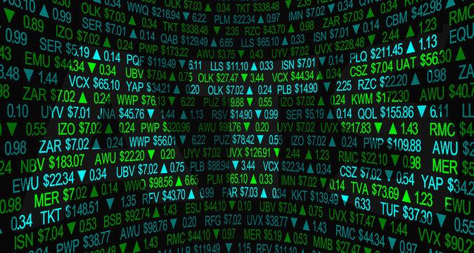 ATS Automated Trading System Alternative Stock Market Process 3d Illustration