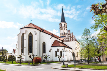 Basilica of St. James on Master Paul's Square in Old town of Levoca - UNESCO (SLOVAKIA)