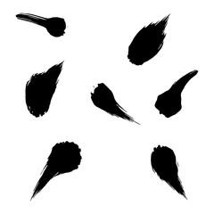ink brush strokes. Grunge artistic design elements