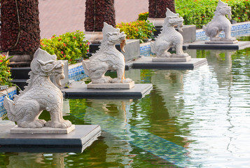 The Sculpture of Chinese lion in Sanya, Hainan island